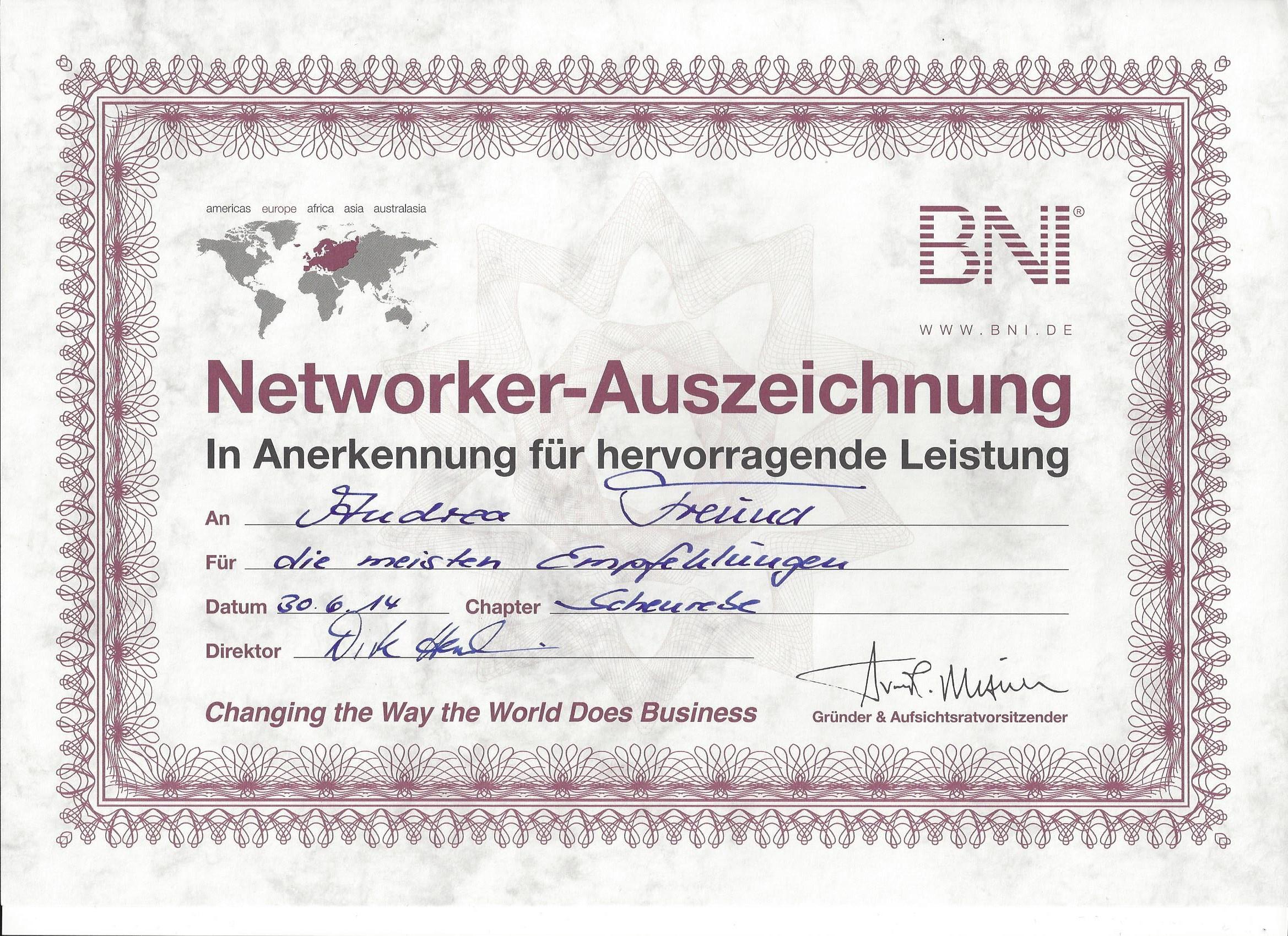 BNI_Networker_Auszeichnung_1